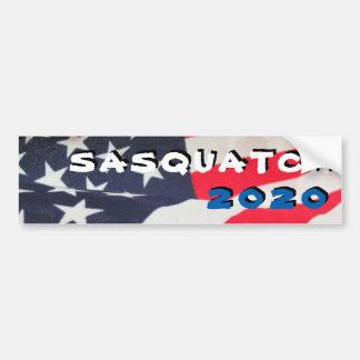 Autocollant De Voiture Sasquatch 2020 avec le drapeau