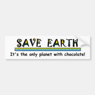 Autocollant De Voiture Sauvez la terre - c'est la seule planète avec du