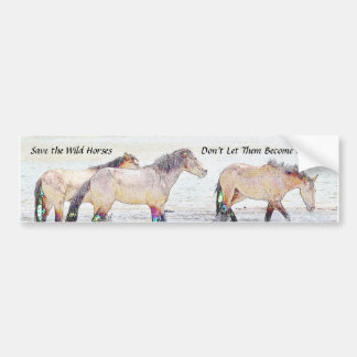 Autocollant De Voiture Sauvez l'adhésif pour pare-chocs de chevaux