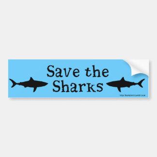 Autocollant De Voiture Sauvez l'adhésif pour pare-chocs de requins