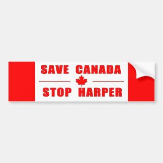 Autocollant De Voiture Sauvez le Canada - arrêtez l'adhésif pour
