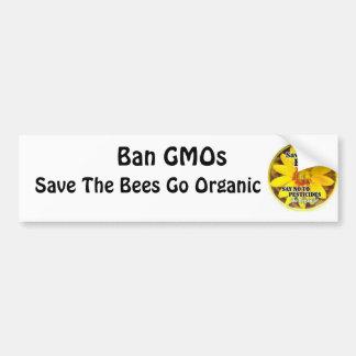 Autocollant De Voiture Sauvez les abeilles vont organiques