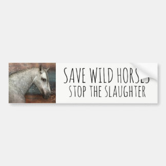 Autocollant De Voiture Sauvez les chevaux sauvages arrêtent l'adhésif