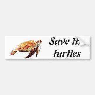 Autocollant De Voiture Sauvez les tortues