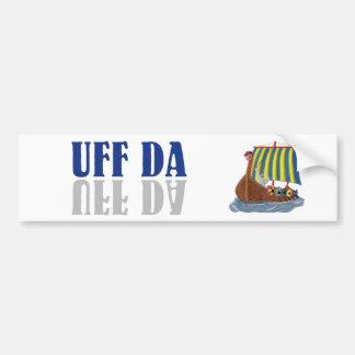 Autocollant De Voiture Scandinave drôle Viking d'UFF DA