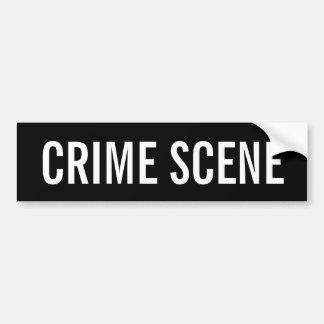 Autocollant De Voiture SCÈNE DU CRIME - emblème blanc de logo