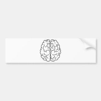 Autocollant De Voiture Schéma cerveau