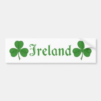 Autocollant De Voiture Shamrock Irlande