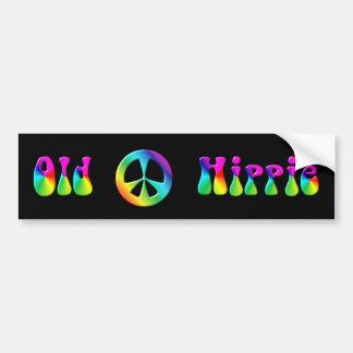 Autocollant De Voiture Signe de paix hippie d'arc-en-ciel de KRW vieux