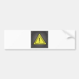 Autocollant De Voiture Signe jaune