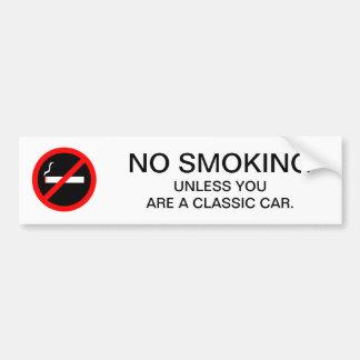 Autocollant De Voiture Signe NON-FUMEURS drôle pour la station service ou