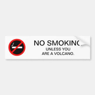 Autocollant De Voiture Signe NON-FUMEURS drôle pour le géologue
