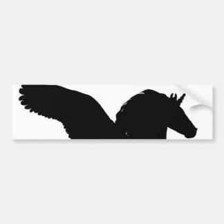 Autocollant De Voiture Silhouette à ailes de licorne