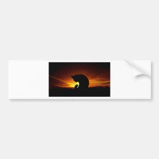 Autocollant De Voiture Silhouette de coucher du soleil