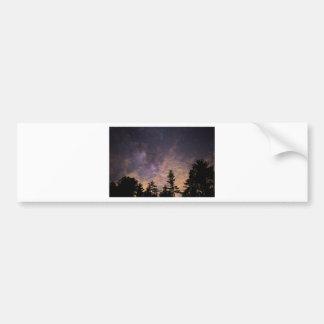 Autocollant De Voiture Silhouette des arbres la nuit