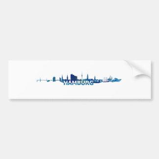 Autocollant De Voiture Silhouette d'horizon de Hambourg