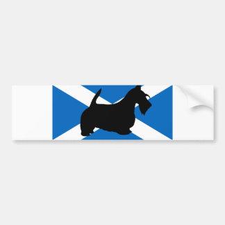 Autocollant De Voiture silhouette écossaise Ecosse flag.png de terrier