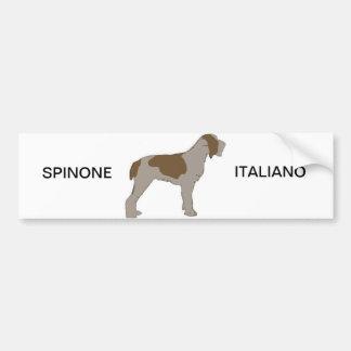 Autocollant De Voiture Silo de Spinone Italiano
