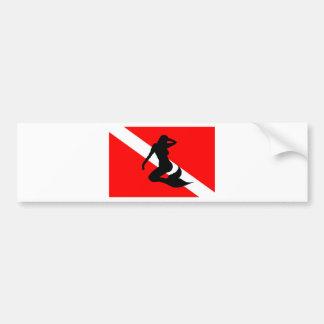 Autocollant De Voiture Sirène de drapeau de piqué