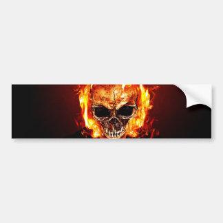 Autocollant De Voiture Skull on fire
