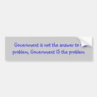 Autocollant De Voiture Slogan politique au sujet de gouvernement