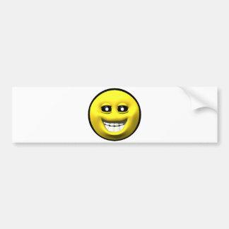 Autocollant De Voiture Smiley heureux jaune