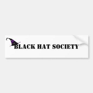 Autocollant De Voiture Société Halloween de casquette noir
