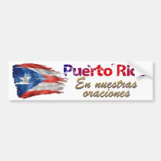 Autocollant De Voiture Soulagement de Porto Rico - dans nos prières