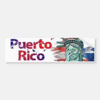 Autocollant De Voiture Soulagement de Porto Rico. Honte sur vous atout !