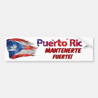 Autocollant De Voiture Soulagement de Porto Rico - séjour fort !
