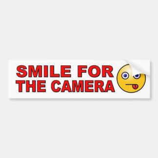 Autocollant De Voiture Souriez pour l'appareil-photo avec le visage