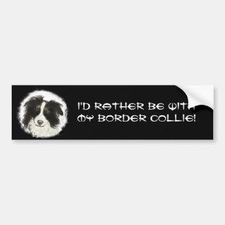 Autocollant De Voiture Soyez plutôt avec mon animal de chien de border co
