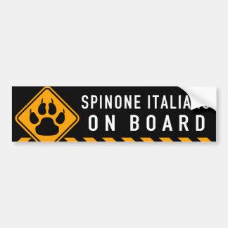 Autocollant De Voiture Spinone Italiano à bord