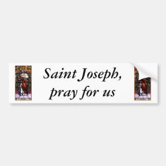 Autocollant De Voiture St Joseph prient pour nous - la fenêtre en verre t
