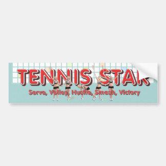 Autocollant De Voiture Star du tennis SUPÉRIEUR