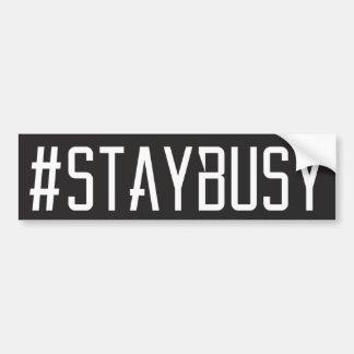 AUTOCOLLANT DE VOITURE #STAYBUSY