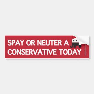 Autocollant De Voiture Stérilisez le neutre un conservateur