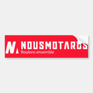 Autocollant De Voiture Sticker Nousmotards Rectangle Rouge