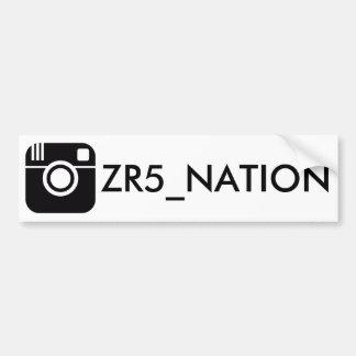 Autocollant De Voiture Suivez le blanc de @ZR5_NATION