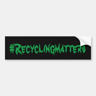 Autocollant De Voiture Sujets #Recycling