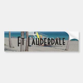 Autocollant De Voiture Support de maître nageur de pi Lauderdale la