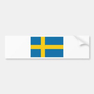 Autocollant De Voiture Sveriges Flagga - drapeau de la Suède - drapeau
