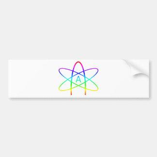 Autocollant De Voiture Symbole d'athée d'arc-en-ciel