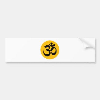 Autocollant De Voiture Symbole de l'OM, cercle noir avec de l'or