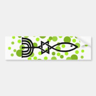 Autocollant De Voiture Symbole du Messie avec les points verts