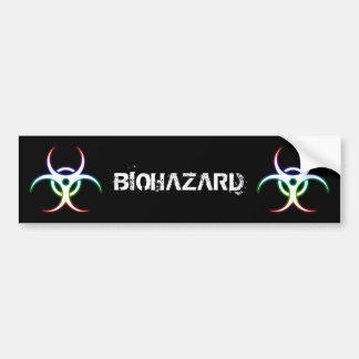 Autocollant De Voiture Symbole rougeoyant de Biohazard - adhésif pour