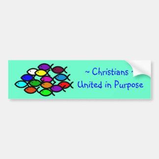 Autocollant De Voiture Symboles chrétiens de poissons - école