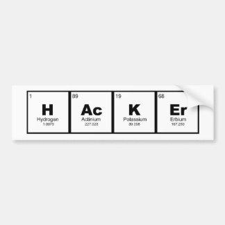 """Autocollant De Voiture table périodique de chimie de TIGE de """"pirate"""