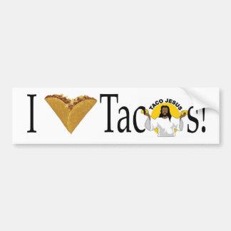 Autocollant De Voiture Tacos I (de coeur)