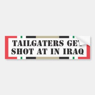 Autocollant De Voiture Tailgaters atteignent le tir à l'Irak